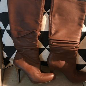 Banana Republic Slouch Brown Knee High Boots